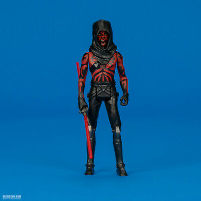 "Darth Maul Old Master The Clone Wars 3.75"" 5POA Star Wars Rebels cyborg loose"