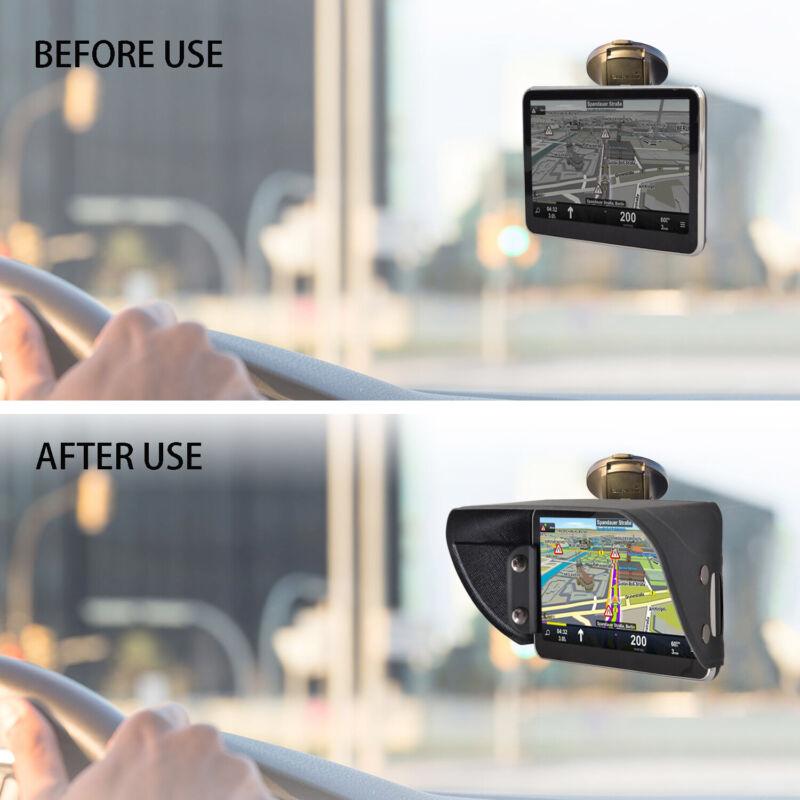 TFY PU Leather Sunshade & Glare Visor for Garmin Nüvi GPS Navigator - 7 Inch