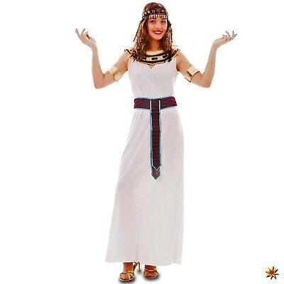Damen Kostüm Ägypterin Nesrin Einheitsgröße  38/42 Kleid weiß gold Kopfschmuck - Weiß Goldenes Kleid Kostüm