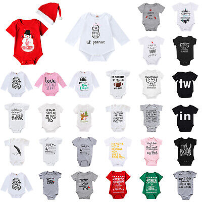 Children Christmas Clothing (Newborn Infant Baby Boy Girl Christmas Romper Bodysuit Jumpsuit Clothes)