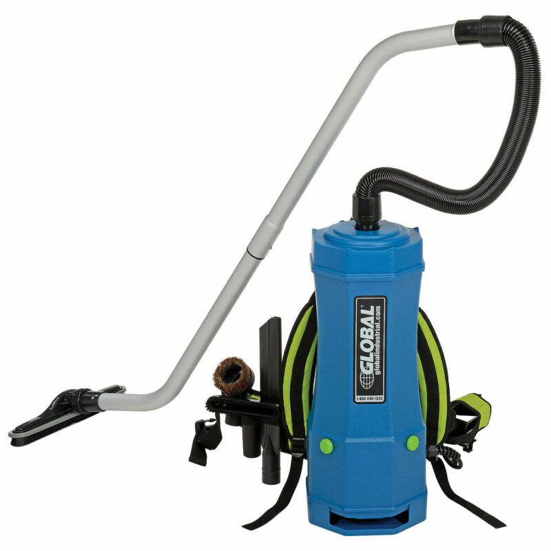HEPA Backpack Vacuum w/8-Piece Tool Kit, 6 Quart