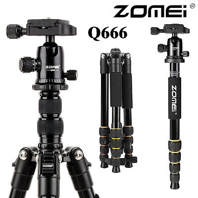 ZOMEI Q666 Travel Tripod Monopod for Canon Nikon Camera Magnesium Alloy Tripod H