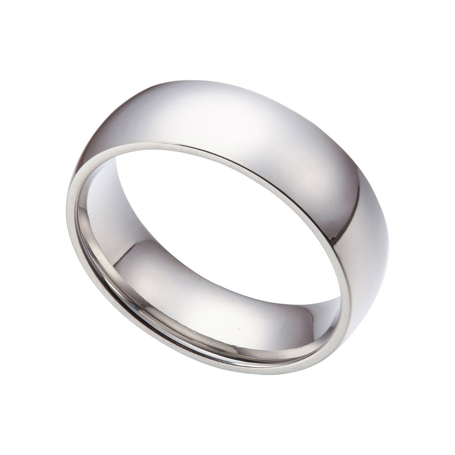 Men 039 S Women 039 S Silver 8mm Stainless Steel Wedding Band Ring Size 9 15