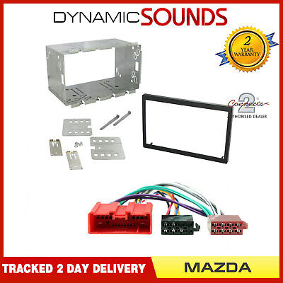 Car CD Stereo Double Din Fascia Wiring Harness Fitting Kit for Mazda Bongo 2001>