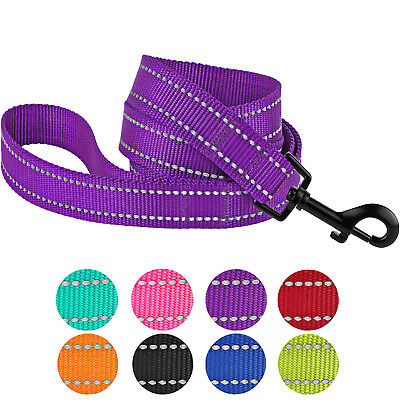 Reflective Dog Leash for Training Daily Outdoor Walking Heavy Duty Nylon Leashes