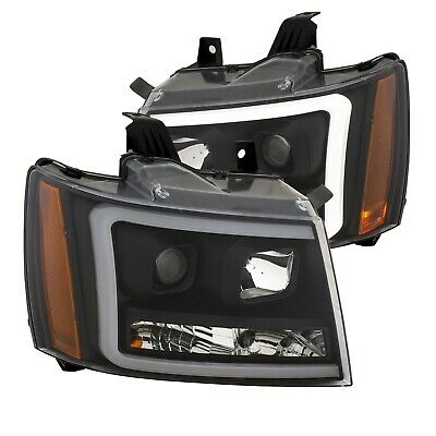 Anzo Projector Headlights Black For 07-14 Tahoe/Suburban/Avalanche #111402