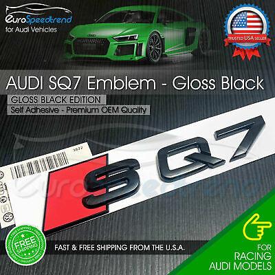 Audi SQ7 Gloss Black Emblem 3D Trunk Logo Badge Rear Tailgate Lid Nameplate Q7