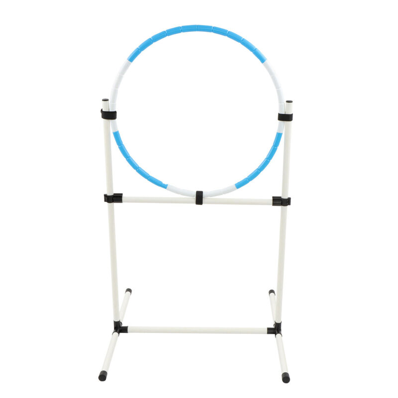 MiMu Agility Hoop Set for Dogs - Backyard Dog Agility Equipment Training Hoop