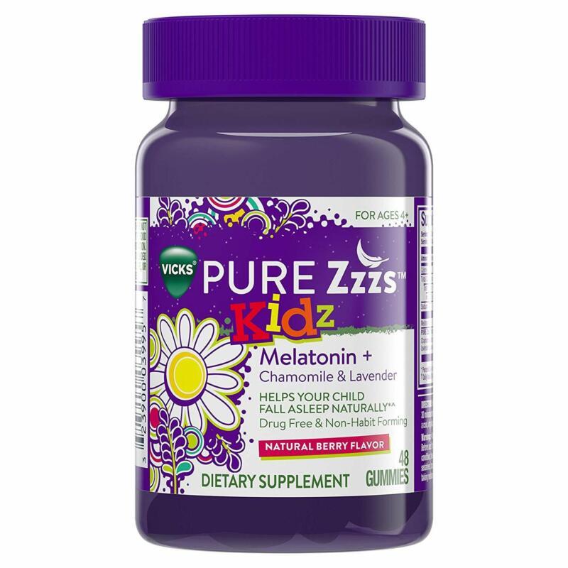 Vicks Pure Zzzs Kidz Melatonin Lavender  Chamomile Sleep Aid