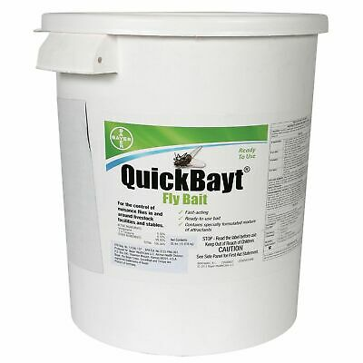 Pest Control Bayer QuickBayt Fly Bait 35 Pounds Scatter Bait Bitrex Horse Cow