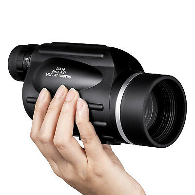 13x50 HD Rangefinder Spotting Scope Monocular with Reticle Waterproof HUTACT