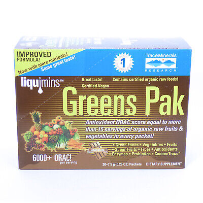 Greens Pak by Trace Minerals Research - 30 Packets Pak 30 Paks