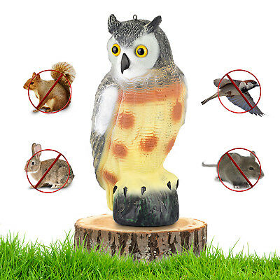 Large Scarecrow Owl Decoy Statue By Realistic Fake Owl Pest & Bird Deterrent