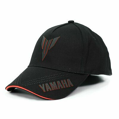 Yamaha Logo Baseball Cap - GENUINE YAMAHA MT CAP BASEBALL CAP CASUAL HAT CAP in BLACK YAMAHA LOGO CAP