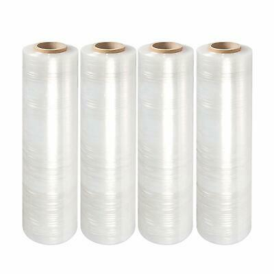18 X 1000 80 Gauge 4 Rolls Pallet Wrap Stretch Film Hand Shrink Wrap 1000ft