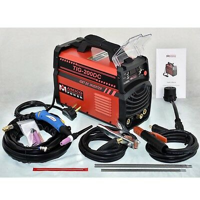 Tig-200dc 200 Amp Tig Torch Stick Arc Dc Welder 110230v Dual Voltage Welding
