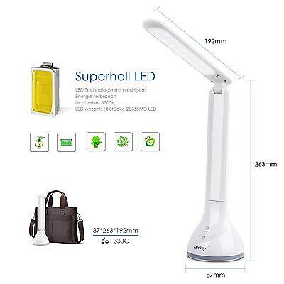 Schwenkbar Schreibtischlampe Schreibtischleuchte Büroleuchte Touch LED Dimmbar