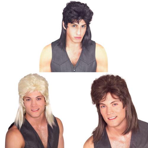 Mullet Wig Black Blonde Brown Mens Longhair Costume Adult Redneck Hillbilly.