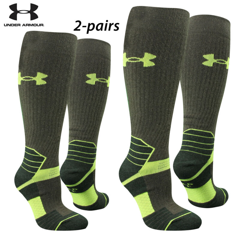 UA Socks: 2-PAIR Sct Ctrl OTC (L) Hrthstone
