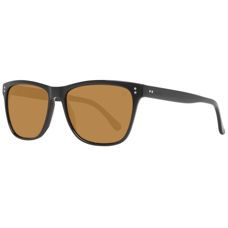 Hackett London modische Sonnenbrille Herren Schwarz polarisiert Trapez-Style