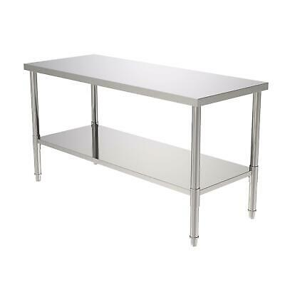 24x60x32 Kitchen Stainless Steel Food Prep Work Table Without Back Board
