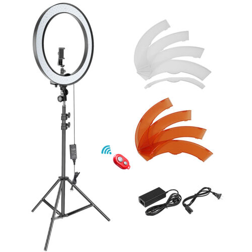 18-inch 5500K Dimmable LED Ring Light kit with Light Stand for Smartphone/Camera
