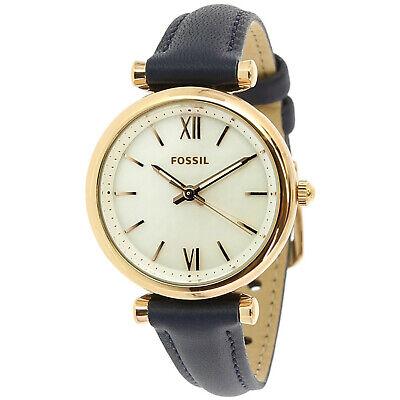 Fossil Women's Carlie ES4502 Black Leather Japanese Quartz Dress Watch