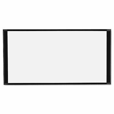 Mastervision Cubicle Workstation Dry Erase Board 36 X18 Black Aluminum Frame