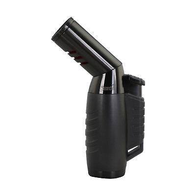 Scorch Torch Triple Jet Flame Butane Cigarette Cigar Torch Lighter - Gray w/Slv