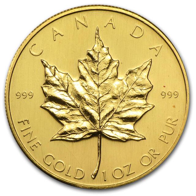 1980 1 oz Gold Canadian Maple Leaf | eBay
