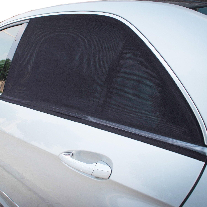 2x Car Sun Shade Cover Blind Mesh For Rear Side Window