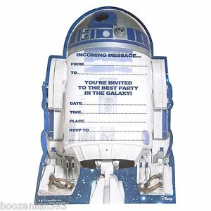 Star Wars Party Invitations eBay