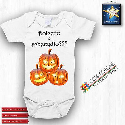 Halloween Dolcetto Scherzetto (Body neonato BIMBA BIMBO HALLOWEEN DOLCETTO O SCHERZETTO idea regalo ALTAqualità)