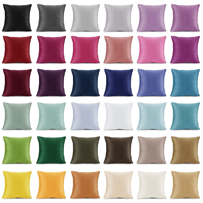 Throw Pillow Covers Set of 2 Sofa Decor Velvet Cushion Cases 7 Sizes 36 Colors!
