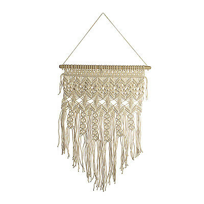Natural 100% Cotton Handmade Macrame Wall Hanging 14.4x32 in