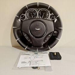 Car Steering Wheel Clock Wall Mounted Metal Plate