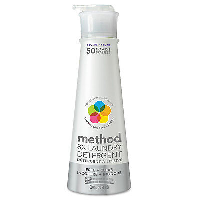 Laundry Detergent, Free and Clear, 20 oz Bottle