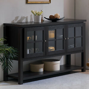 buffet table cabinet sideboard hutch dining kitchen server furniture