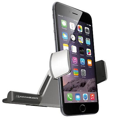 Soporte para Telefono Coche para la Ranura CD Negro Plateado Rotación Vertical