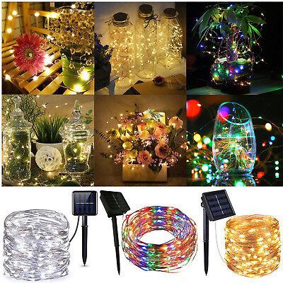 50-200 LED Solar Power Fairy Lights String Lamps Party Xmas Deco Garden Outdoor ()