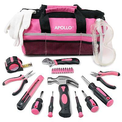 Pink Womens Tool Box Bag Kit Diy Hand Home Set Small Person Lady Little People