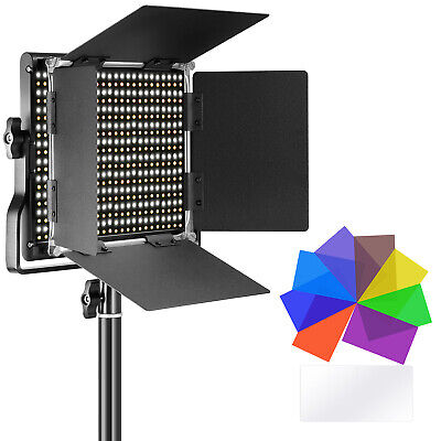 Neewer Bi-Color Dimmable 660 LED Video Light 40W with 8 Lighting Color Filters