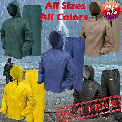 Rain Suit Frogg Toggs Ultra Lite Waterproof Jacket Pants Gear Wear S M L XL - Xxl Suits