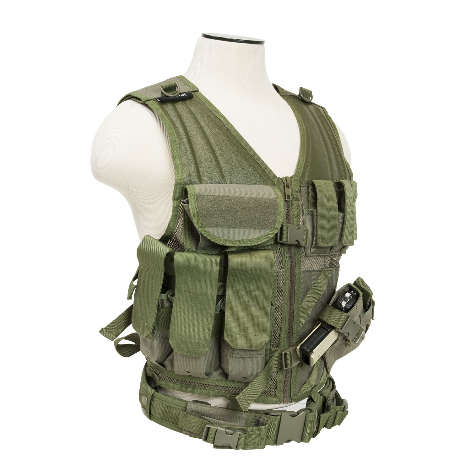 VISM by NcStarTactical Vest/Green , adjustable small/medium