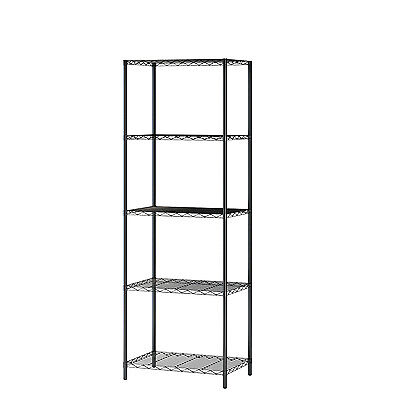 Wire Shelving 5-Tier Metal Shelf  5-Shelf Shelving Unit Storage Rack Organizer