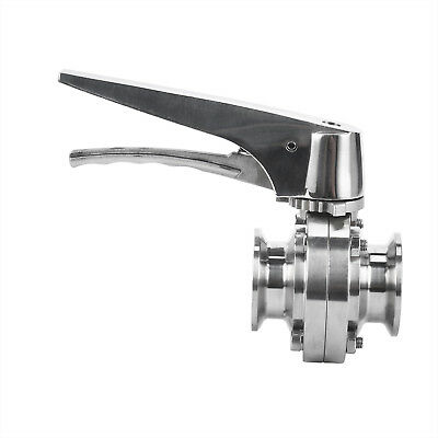 Sanitary Butterfly Valve Tri Clampclover 1.5 1 12 Inch Trigger Handleepdm