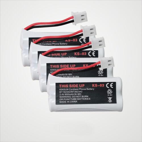 4-Pack Cordless Phone Battery for BT162342 BT262342 BT166342 BT266342 BT183342