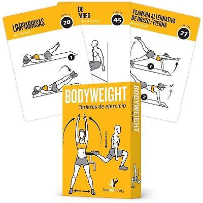 TARJETAS DE EJERCICIO BODYWEIGHT – Guía de programa de ejercicios con entrena...