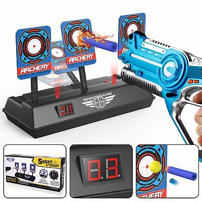 Electronic Digital Scoring Target for Nerf Guns Auto Reset Game Light Sound Effe