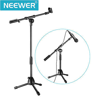 Neewer NW-212 Mini Tripod Microphone Stand with Telescoping Boom and Mic Clip